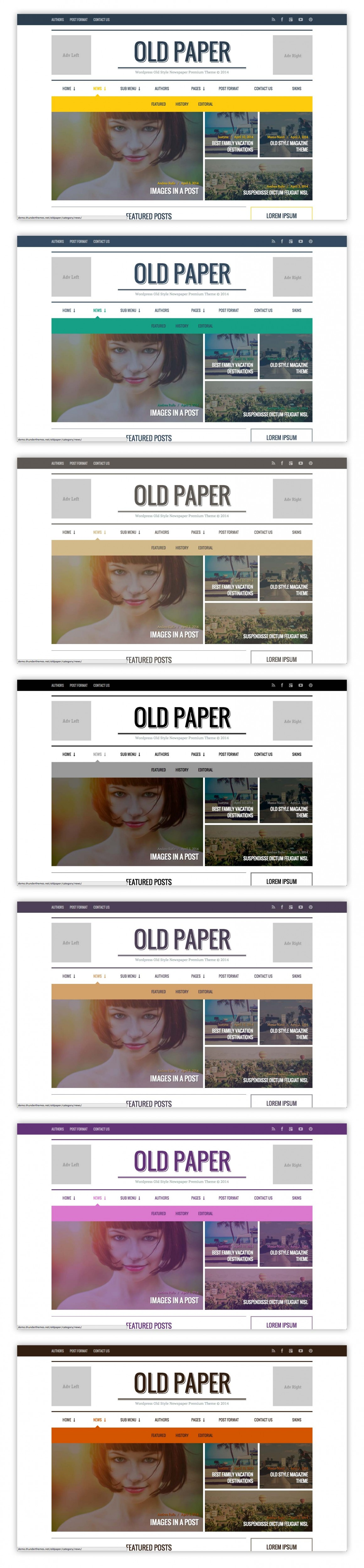 Old Paper selected Skins